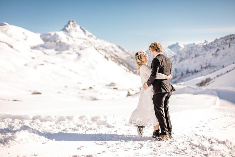 hochzeitsfotos schnee