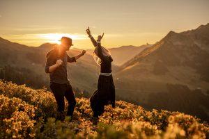 Sunrise photo shooting in the Austrian Alps