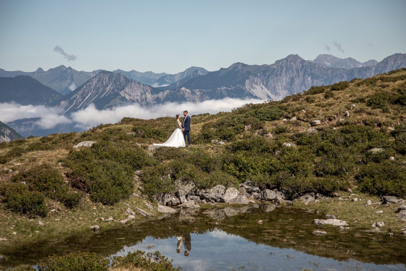 Hochzeitsfotos im Montafon in Vorarlberg