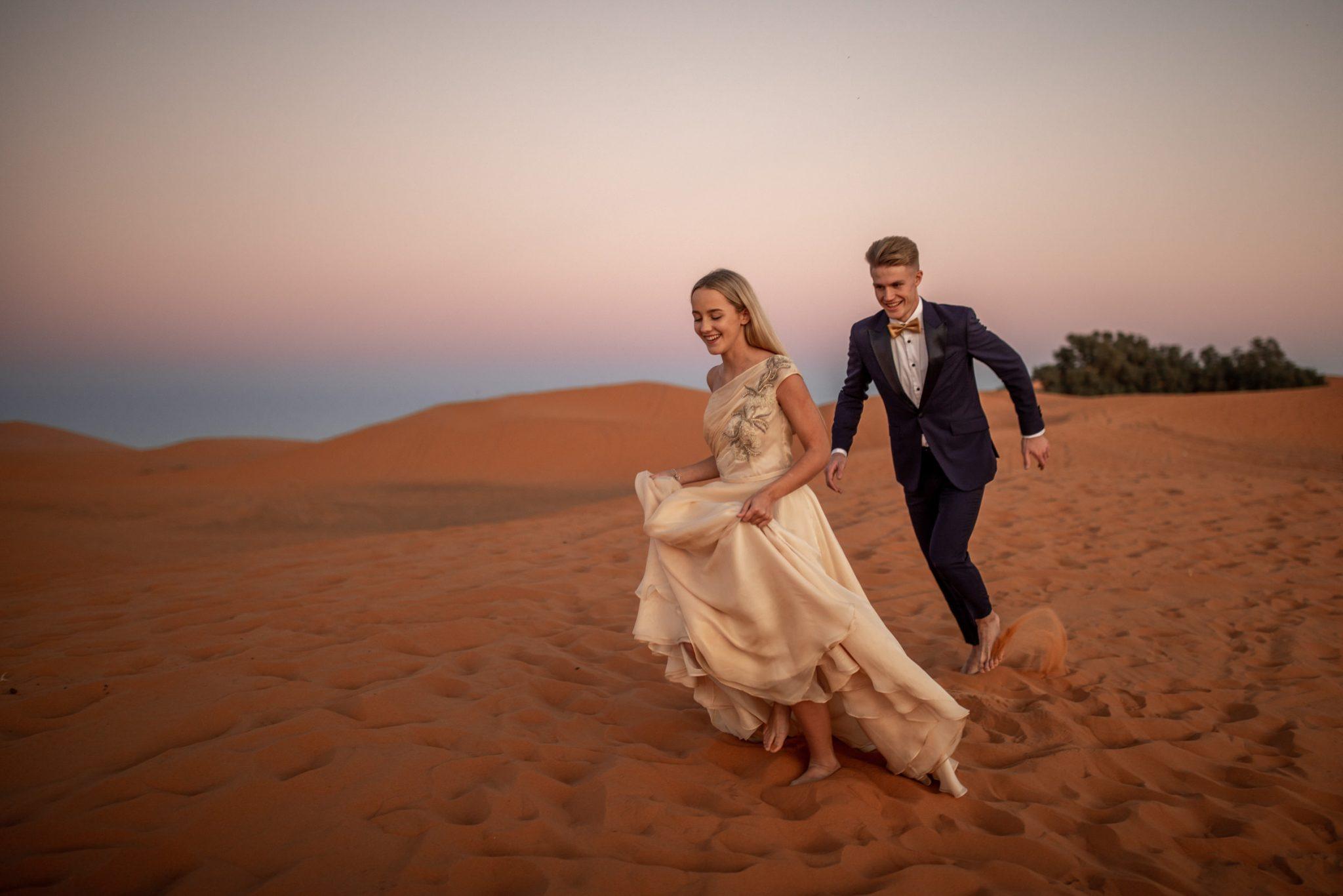 Heiraten in einer Wüste